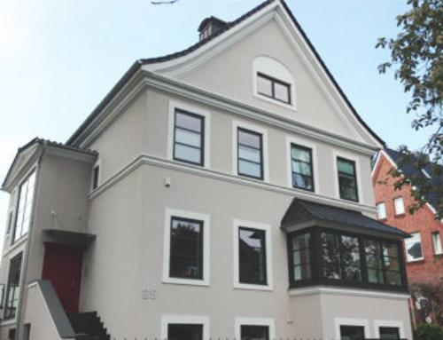Fassadengestaltung Privathaus Kiel, April 2015